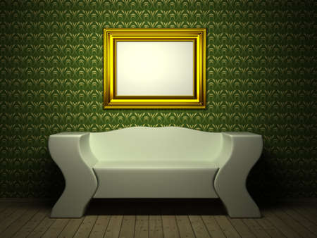 Room with picture. 3d rendered image Stock Photo - 6958837