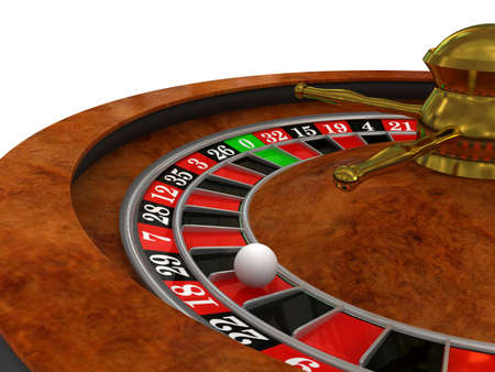 spinning wheel: Casino Roulette. 3d rendered image