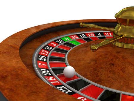 rueda de la fortuna: Ruleta de Casino. imagen 3D