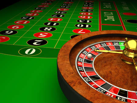 Casino Roulette. 3d rendered image