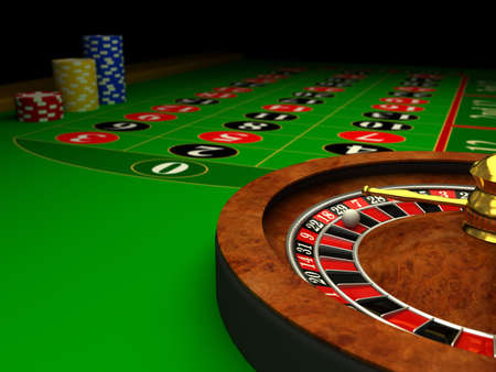 roulette wheels: Casino Roulette. 3d rendered image