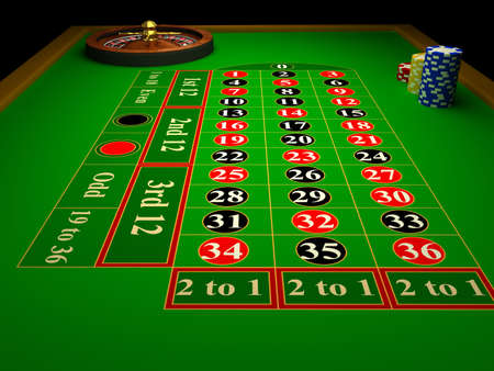 turning table: Casino Roulette. 3d rendered image