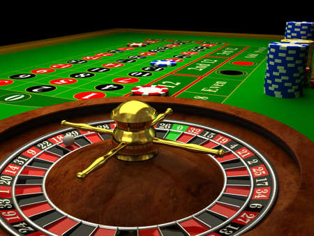 Casino Roulette. 3d rendered image photo