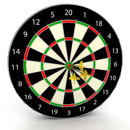 consistency: Darts game. 3d rendered image Stock Photo