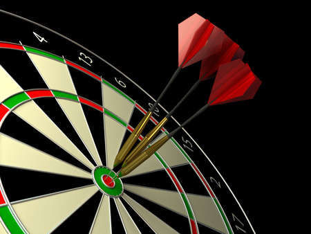 Darts game. 3d rendered image photo