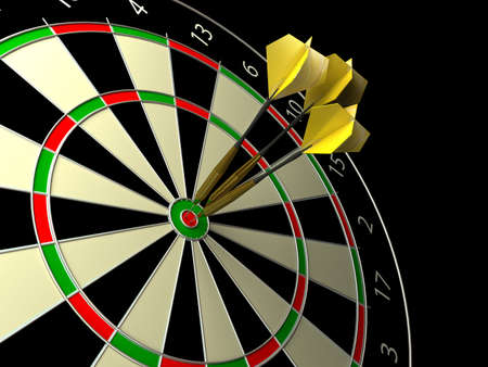 dart: Darts game. 3d rendered image Stock Photo