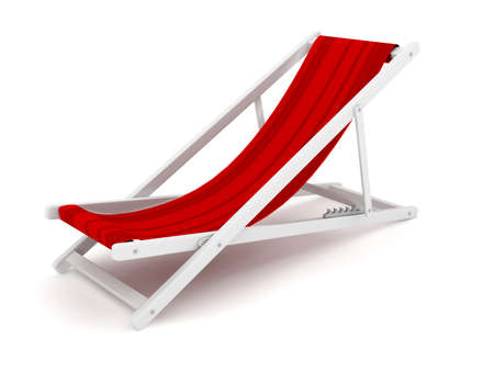 chaise longue: Chaise lounge over white. 3d render