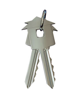 Key over white background. 3d rendered image photo