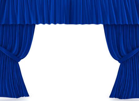 cortinas: Cortinas rojas sobre blanco. imagen 3D  Foto de archivo