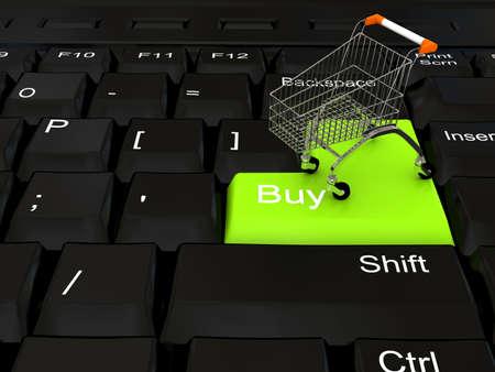 Internet shop concept. 3d rendered image Stock Photo - 7317899
