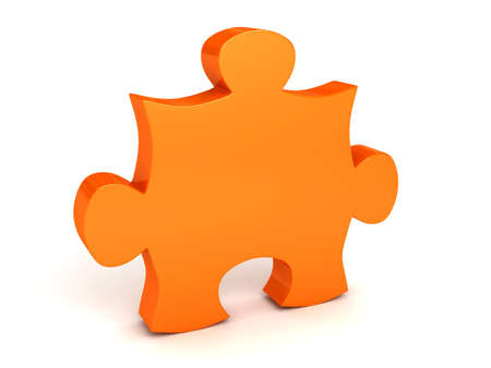 Puzzle. 3d rendered image Stock Photo - 7349708
