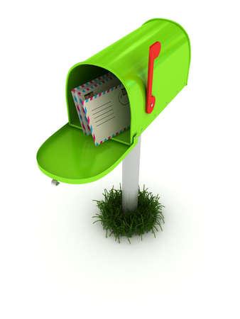 Mailbox over white background. 3d rendered image Stock Photo - 7349738