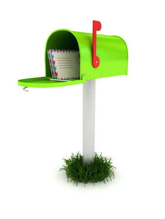 Mailbox over white background. 3d rendered image Stock Photo - 7349735