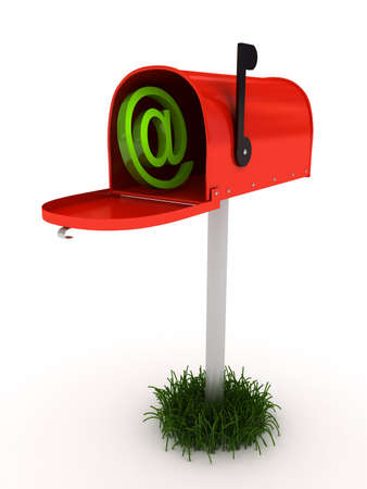 Mailbox over white background. 3d rendered image Stock Photo - 7349740