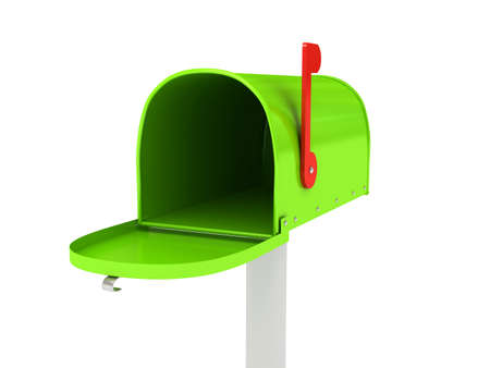 Mailbox over white background. 3d rendered image Stock Photo - 7349723