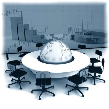 presentation board: Business concept, Financial conference. 3d render