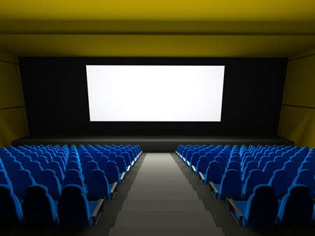 prem: 3d, audience, auditorium, backdrop, backgrounds, blue, chair, classical, color, copy, dark, empty, entertainment, equipment, event, fun, generated, group, horizontal, illuminated, image, indoors, industry, light, lighting, movie, nobody, performance, prem Stock Photo