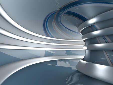 futuristico: 3d astratto sfondo. Immagine di rendering
