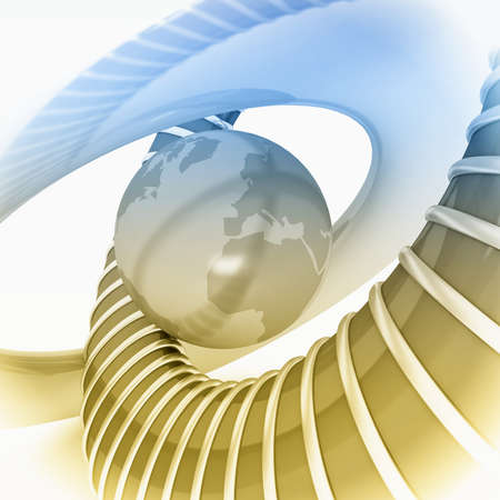 Fondo abstracto 3D. Imagen de procesamiento