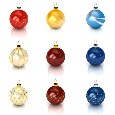 Christmas ball over white. 3d rendered image Stock Photo - 7835984