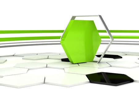 3d abstract background. Rendering image Stock Photo - 8058547