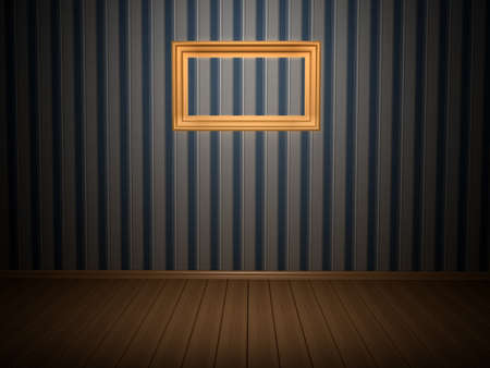 Room with frame. 3d rendered image Stock Photo - 8058578