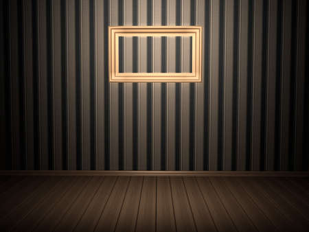 Room with frame. 3d rendered image Stock Photo - 8058579