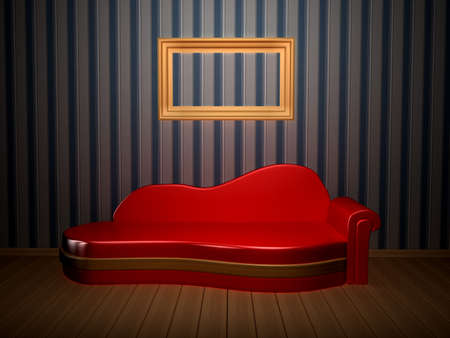 Room with picture. 3d rendered image Stock Photo - 8058577