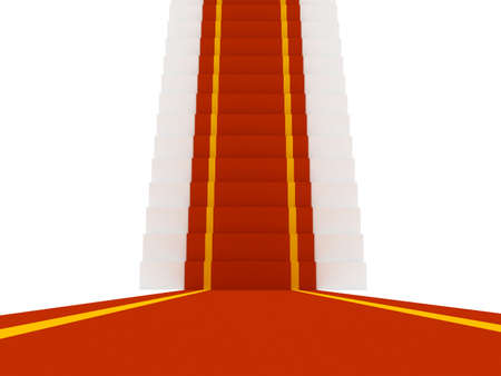 Stair with red carpent photo