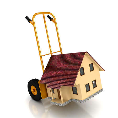 house on sale over white backgound. computer generated image Stock Photo - 8357237