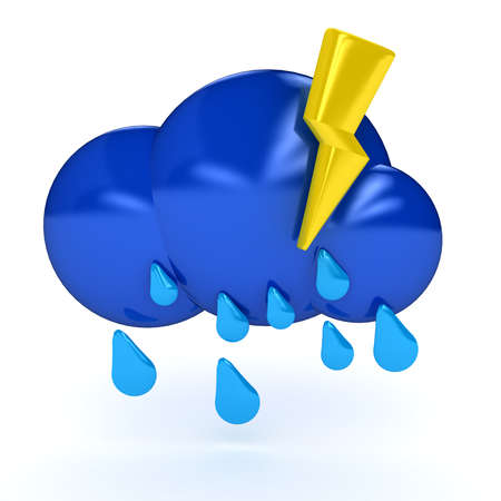 Weather symbol over white background. 3d computer generated image Stock Photo - 8551918
