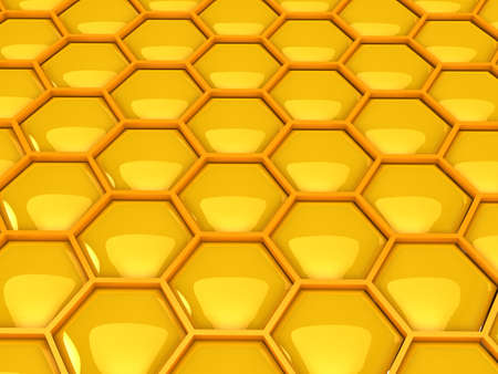 3d gold honeycombs . Computer generated image photo
