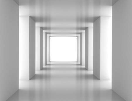 Tunnel with white wall. Computer generated image Stock Photo - 8727947