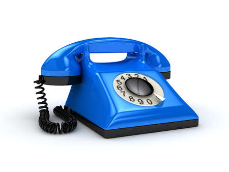 inconvenience: Telephone over white background. 3d rendered image Stock Photo