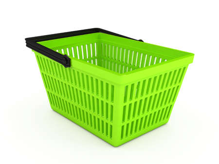 Shopping basket over white background photo
