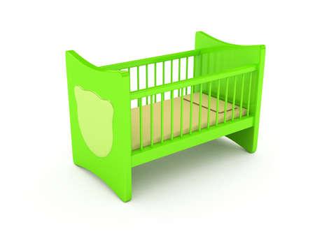 新生児ベッド白い背景の上の