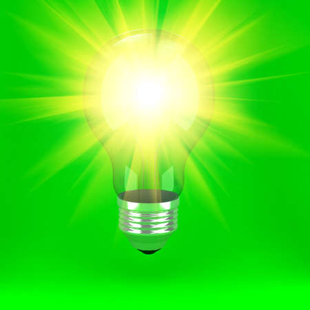 Bulb over background Stock Photo - 9455698