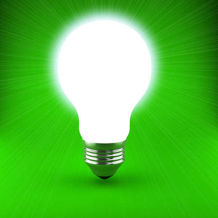 Bulb over background Stock Photo - 9455795