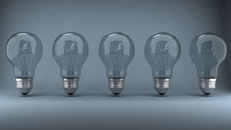 Bulb over background Stock Photo - 9455689