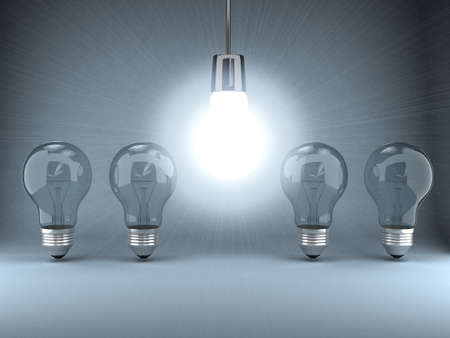 Bulb over background Standard-Bild