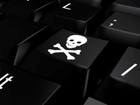 Keyboard with skull and bones Stock Photo - 9675362