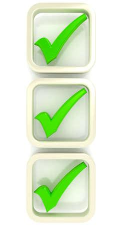 Check list Symbol over white Standard-Bild
