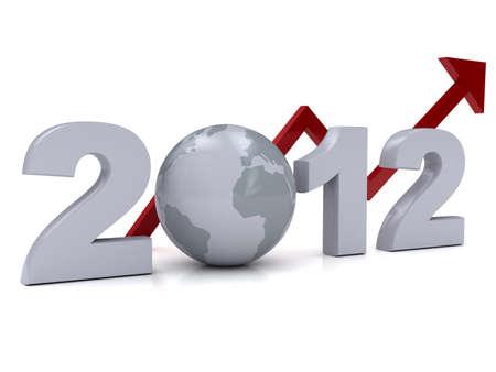 2012 年新年の概念