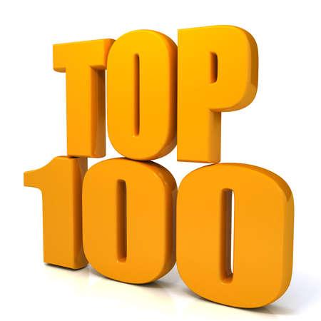 白い背景の上のトップ 100 の言葉。com 写真素材