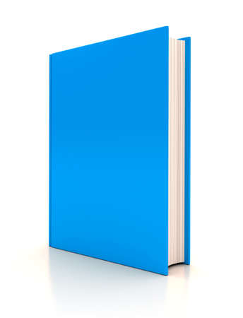 three objects: The book on white background. 3d render Stock Photo
