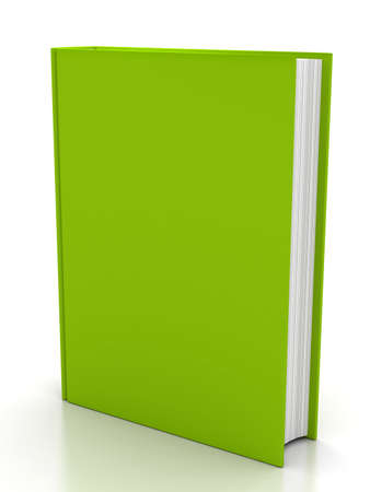 The book on white background. 3d render photo