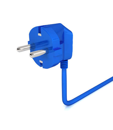 Electric plug over white background. computer generated image