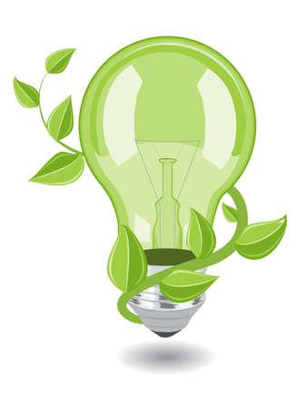 Vector bulb over white background. eps 8 Illustration