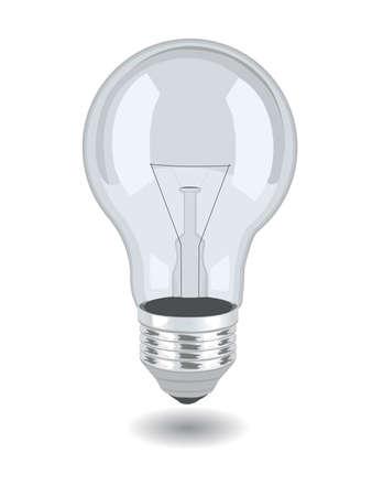 白い背景の上ベクトル電球。eps 8