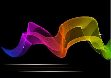 あなたの設計の抽象の熱烈な色の背景。EPS10